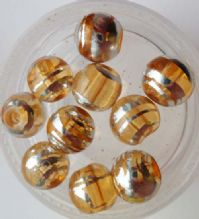 Drawbench Glass Beads. Light Brown. 8mm x 10